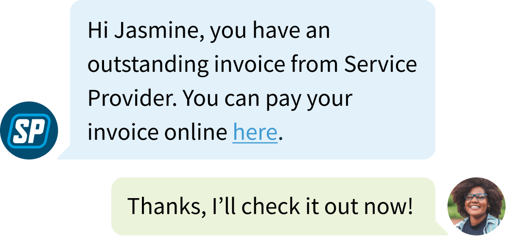 Invoice follow-up example