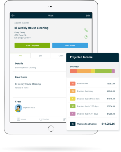 Scheduling And Dispatching Software For Residential Cleaning Companies  House Cleaning Invoice