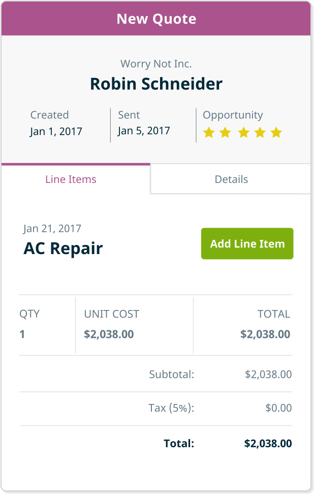 Build quotes and estimates in the field