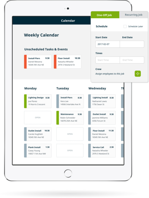 General Contractor Scheduling And Invoice Software Jobber - Scheduling and invoicing software