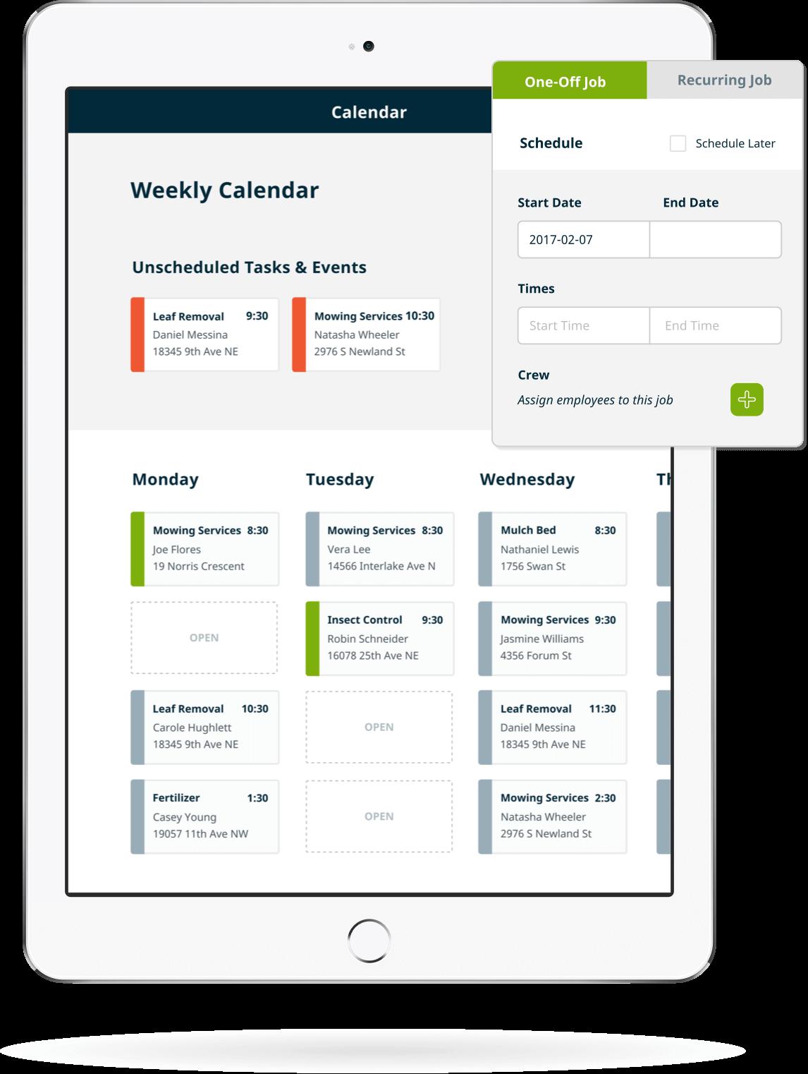 1 Job Scheduling Software & App for Service Businesses in 2019   Jobber