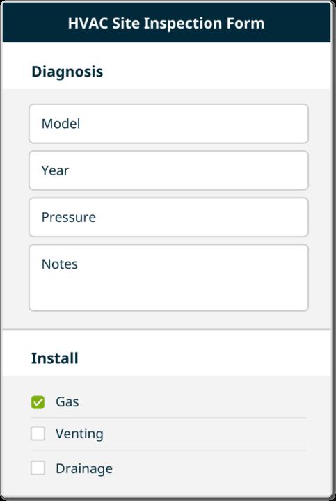 hvac inspection form