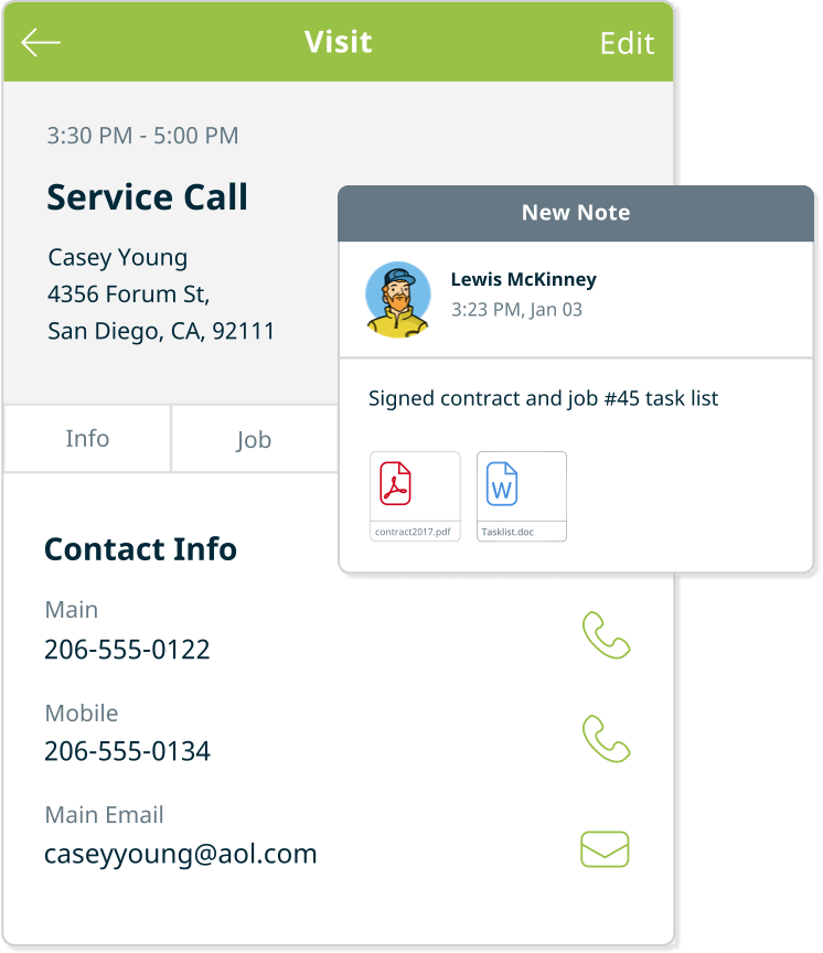 Service Call Job Management Software
