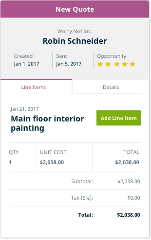 Painting Contractor Software estimating expenses and more