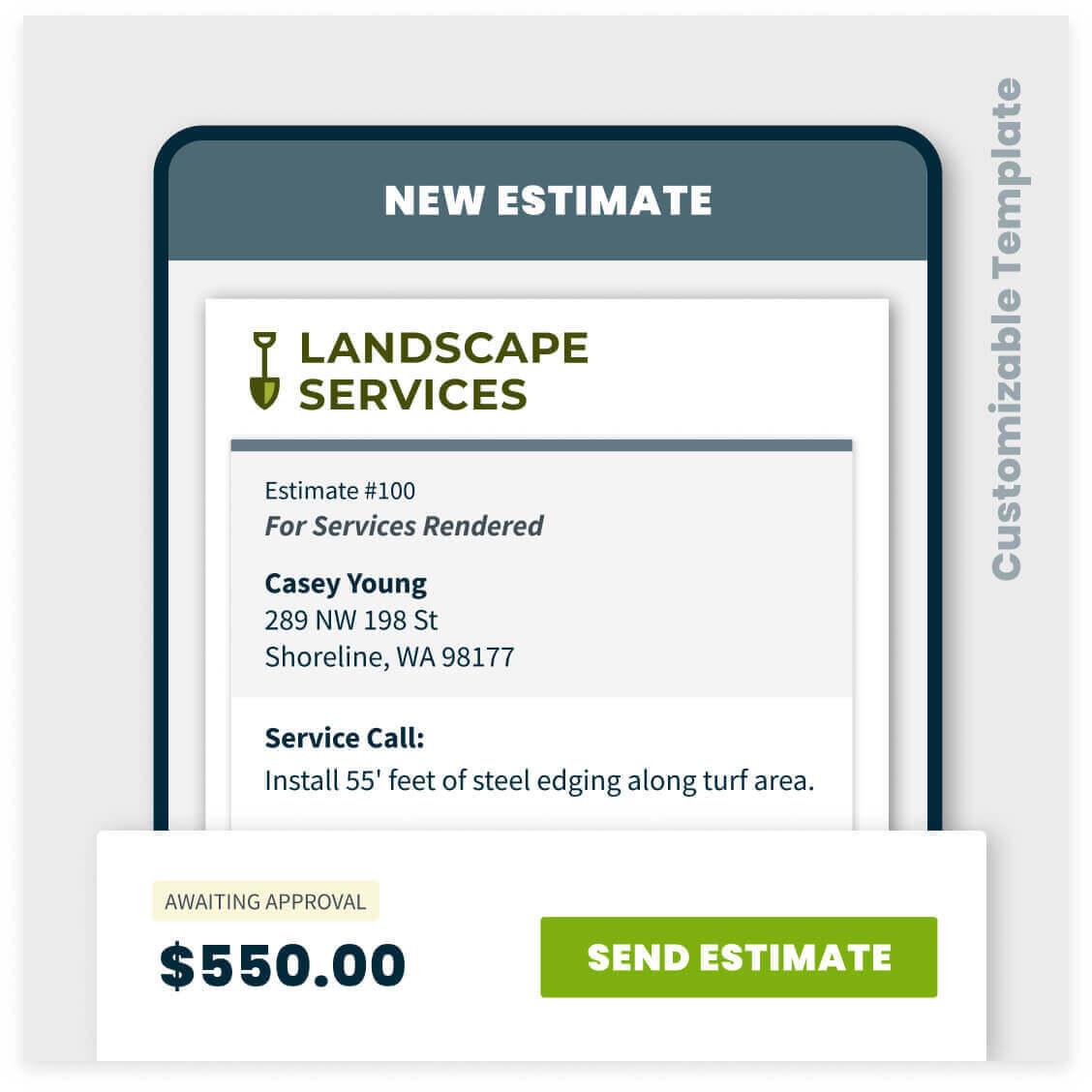 landscaping estimate template sample