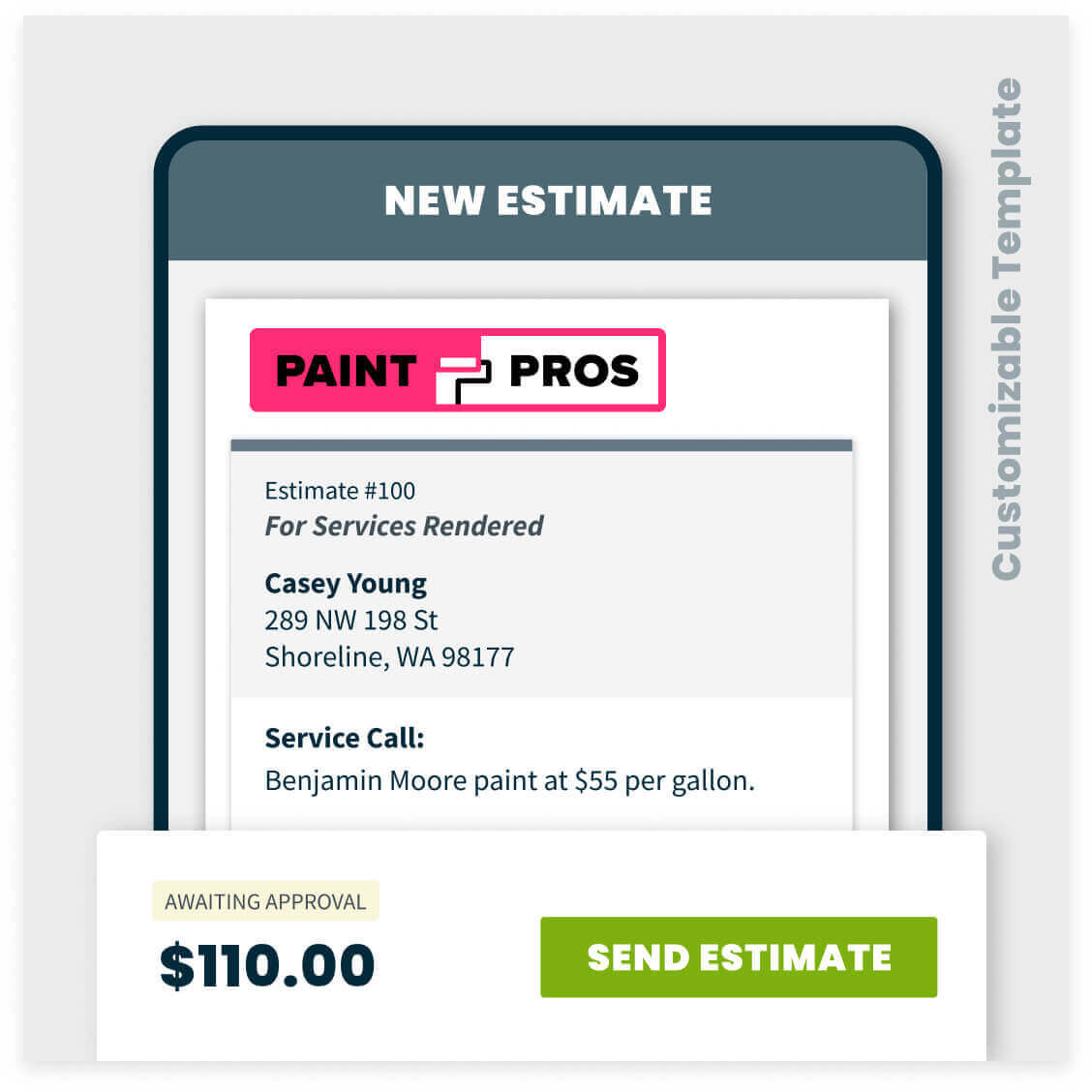 painting estimate template sample